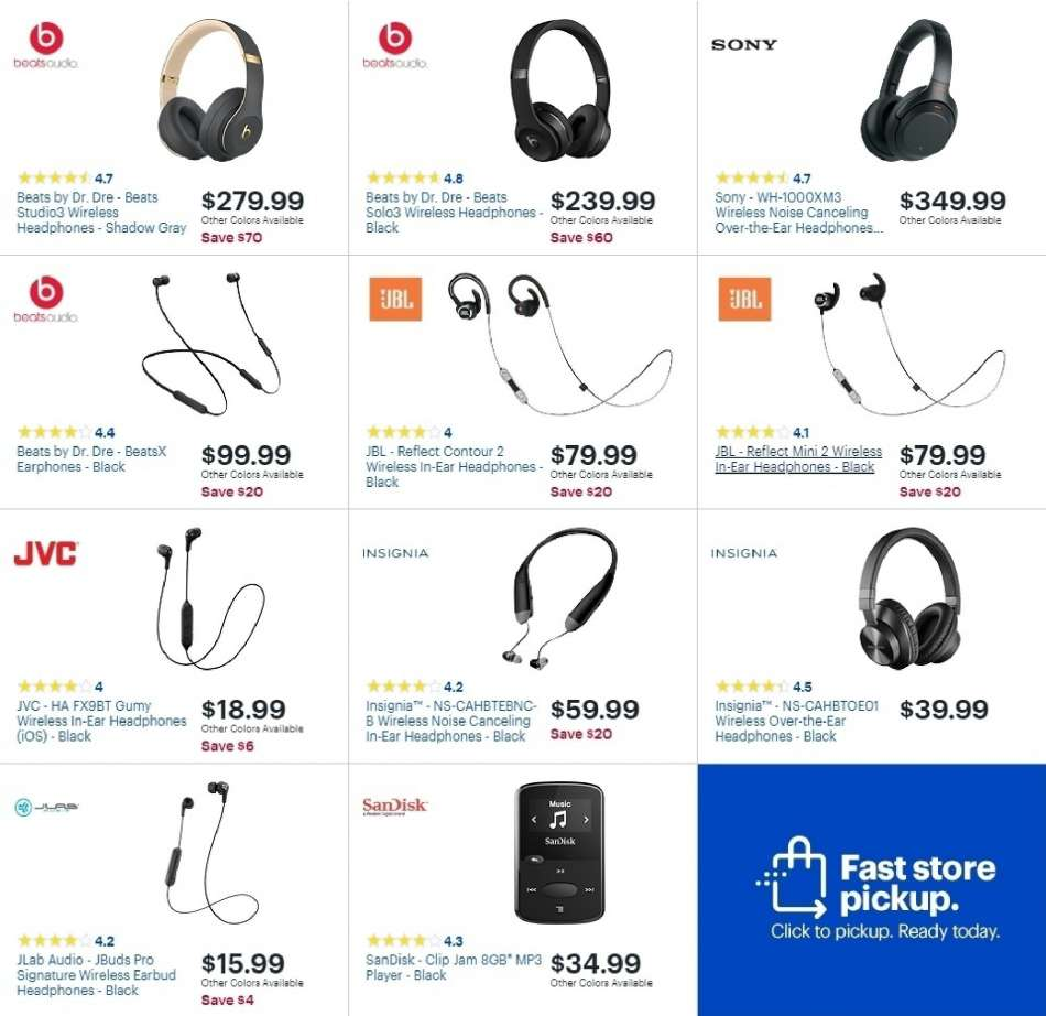 18bf6ea229f Best Buy Flyer - 02.03.2019 - 02.09.2019 - Sales products - mp3