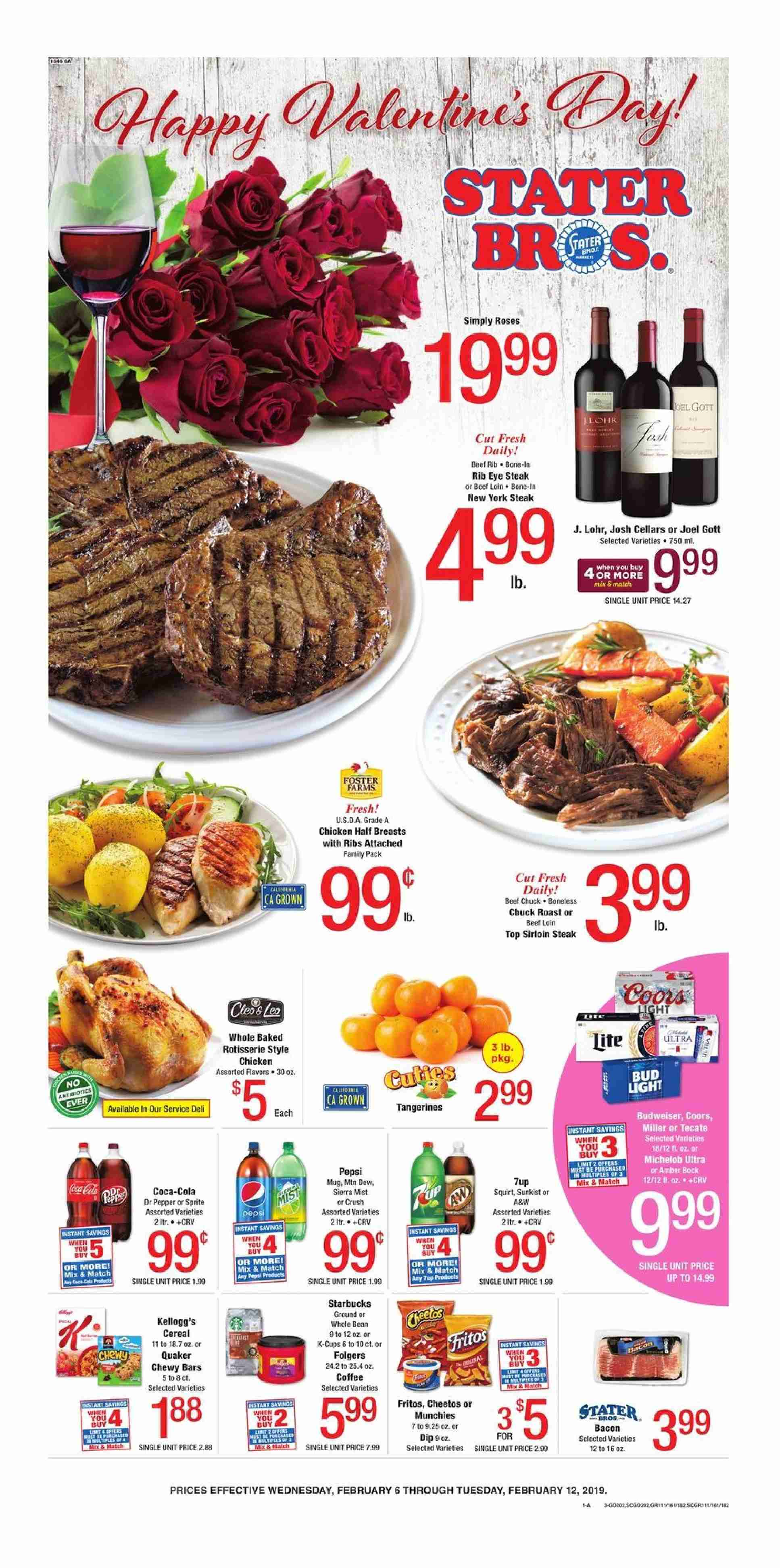 Stater Bros. Flyer  - 02.06.2019 - 02.12.2019. Page 1.