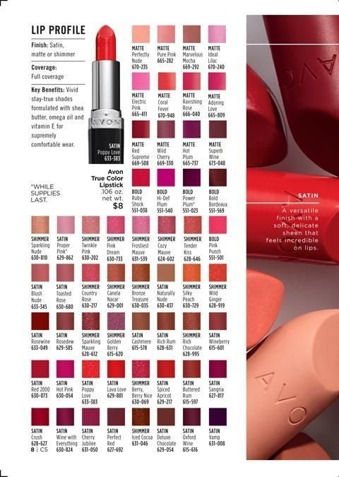 Avon Flyer - 02.05.2019 - 02.18.2019 - Sales products - butter, ginger, lipstick, rum, shades, shea butter, true color, chocolate, berry, wine, apricot. Page 8.