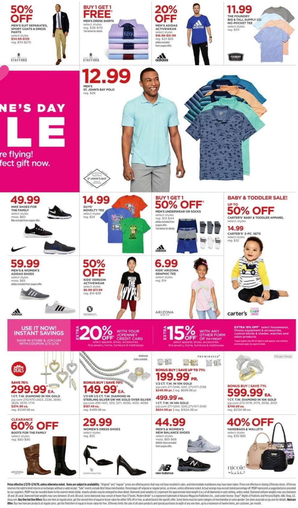 low priced aa1e3 43d8e JCPenney Flyer - 02.03.2019 - 02.14.2019 - Sales products - adidas,