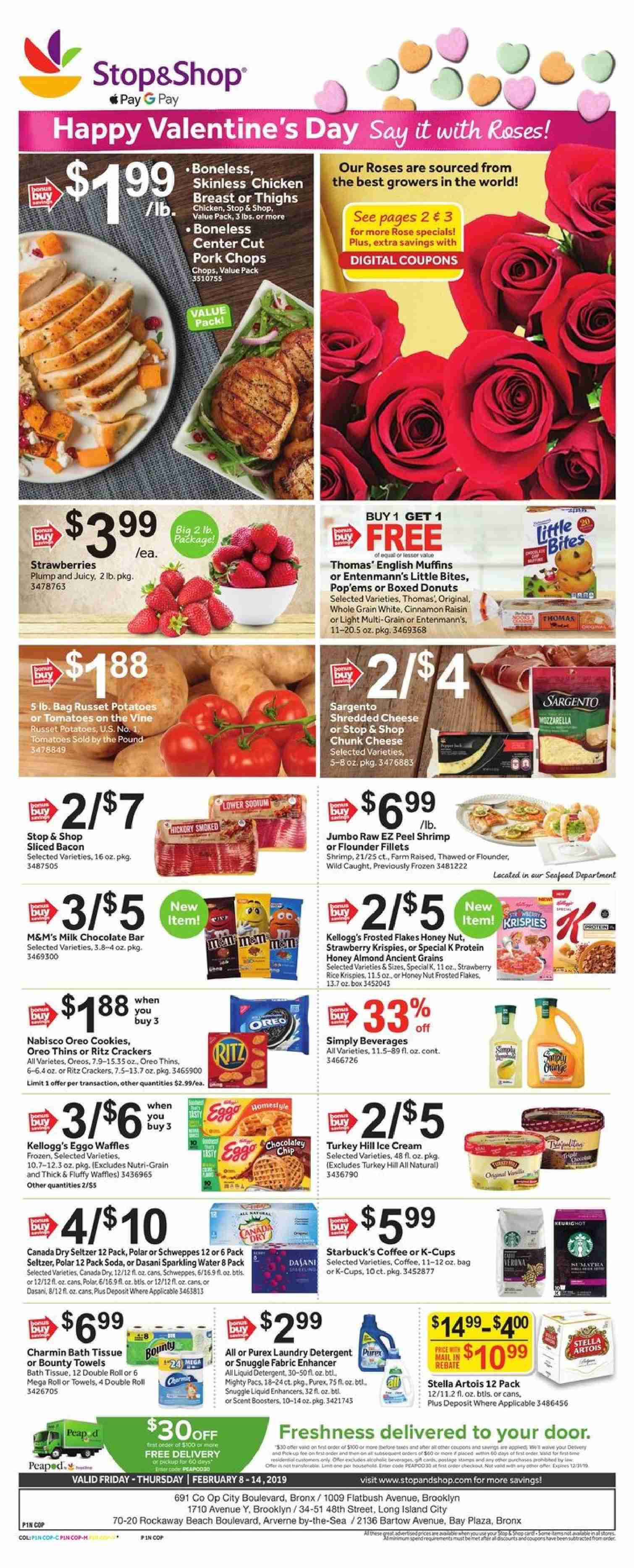Stop & Shop Flyer  - 02.08.2019 - 02.14.2019. Page 1.