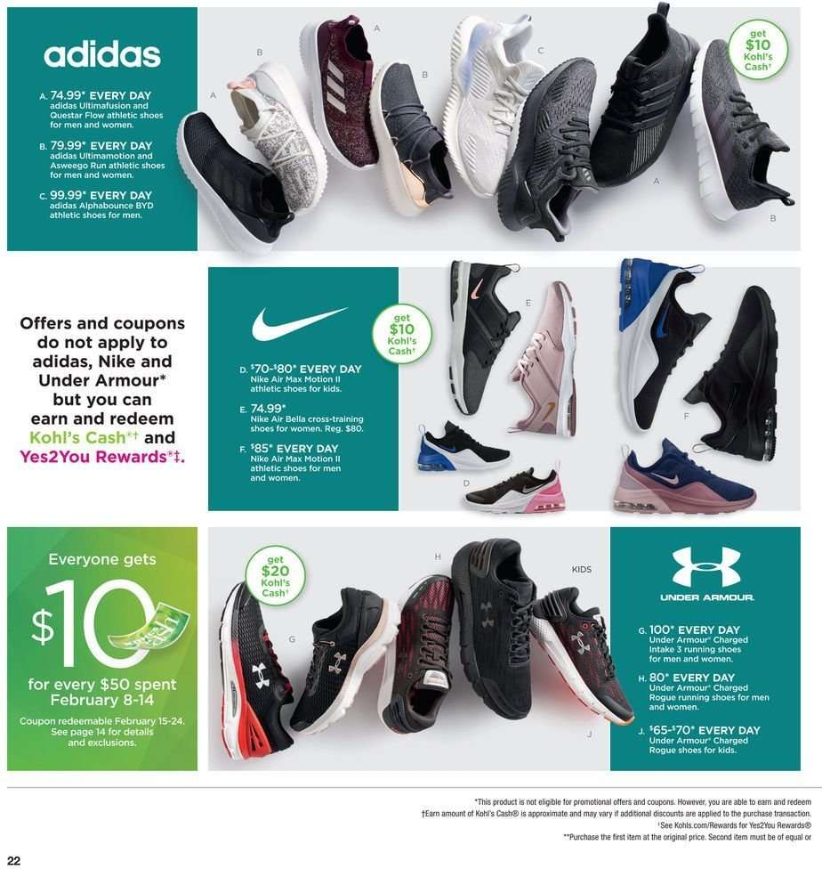 best service 185cd b7a35 Kohl s Flyer - 02.08.2019 - 02.18.2019 - Sales products - adidas,