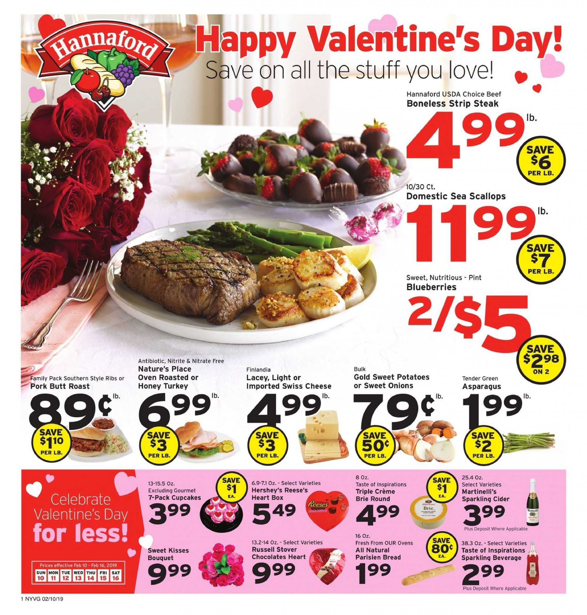 Hannaford Flyer  - 02.10.2019 - 02.16.2019. Page 1.