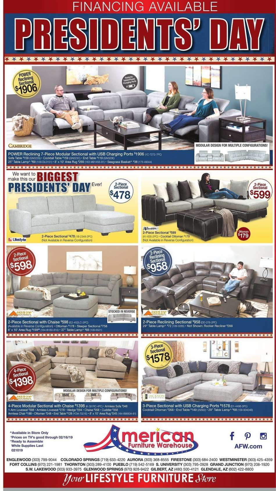 American Furniture Warehouse Flyer 02 10 2019 02 16 2019 Weekly