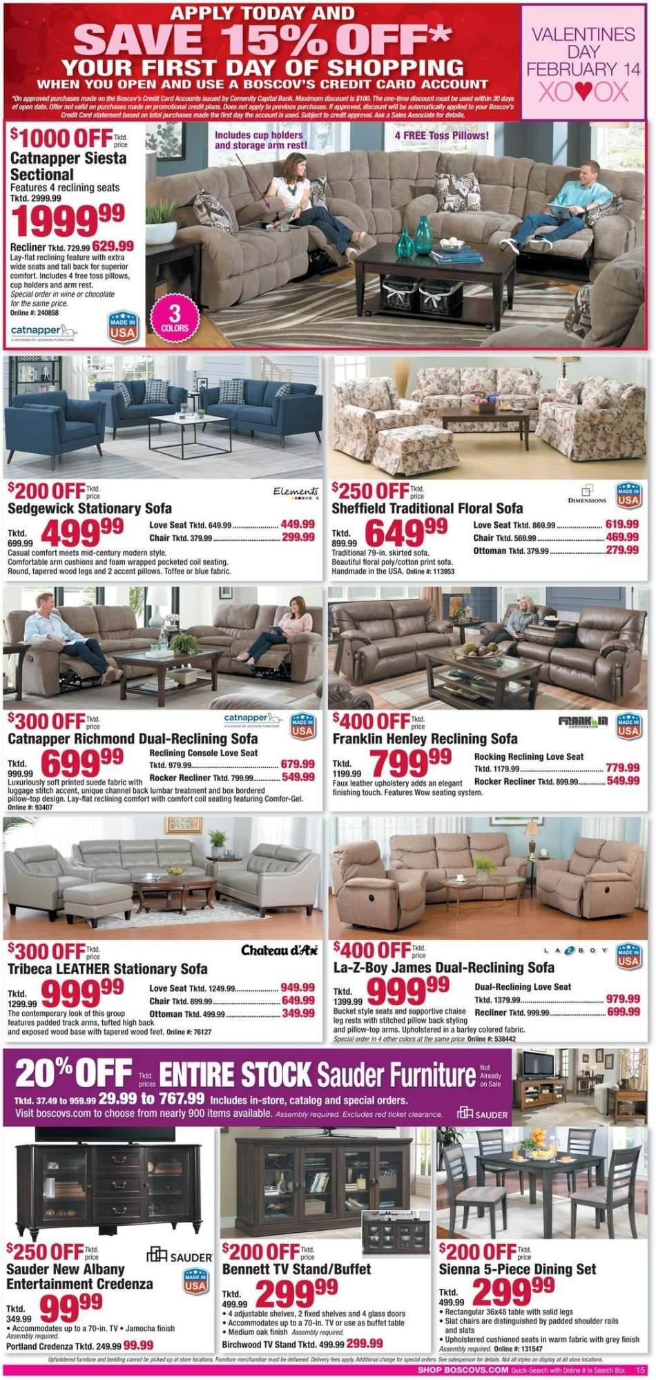 Marvelous Boscovs Flyer 02 10 2019 02 18 2019 Weekly Ads Us Gmtry Best Dining Table And Chair Ideas Images Gmtryco