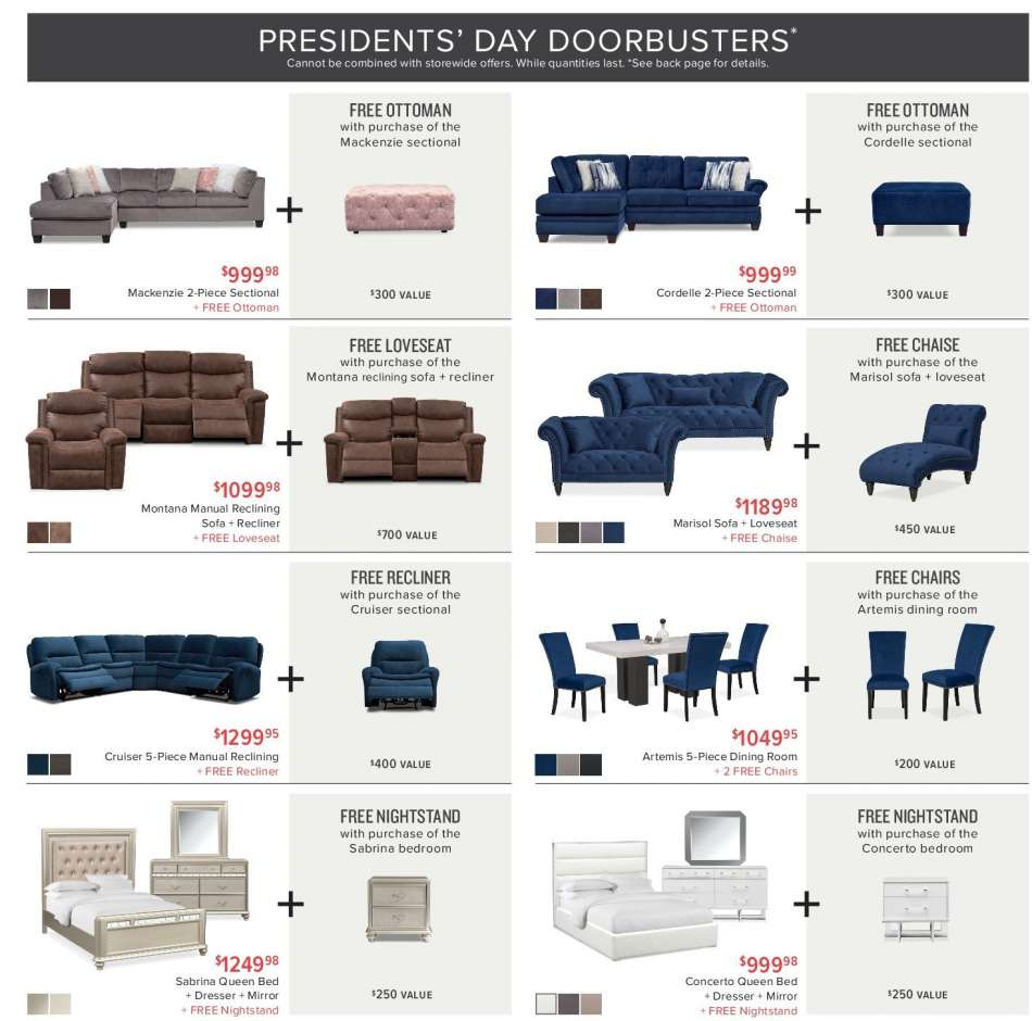 Stupendous Value City Furniture Flyer 02 12 2019 02 25 2019 Weekly Cjindustries Chair Design For Home Cjindustriesco