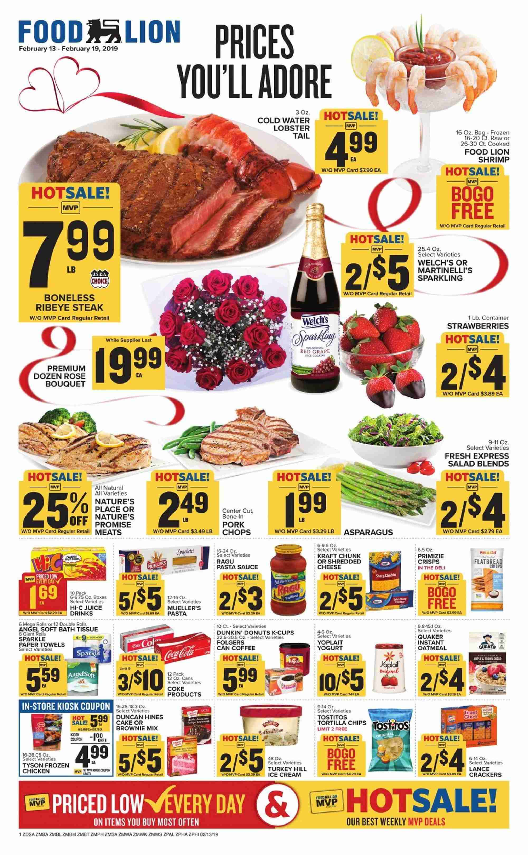 Food Lion Flyer  - 02.13.2019 - 02.19.2019. Page 1.