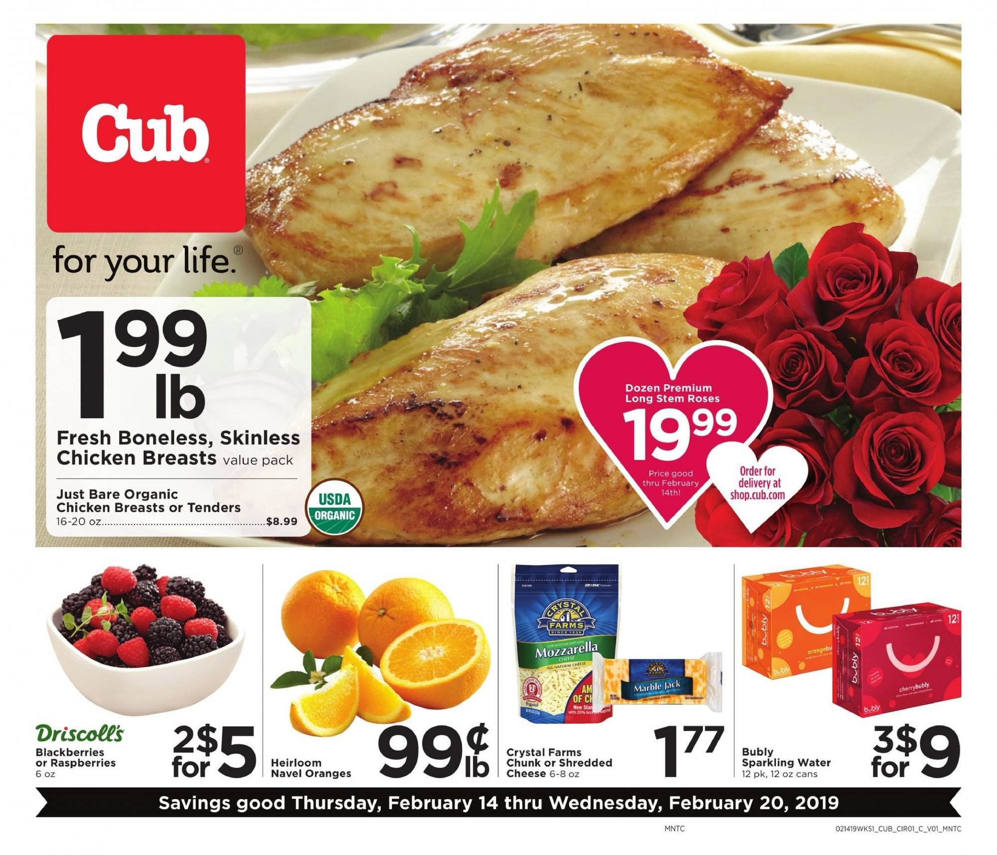 Cub Foods Flyer  - 02.14.2019 - 02.20.2019. Page 1.
