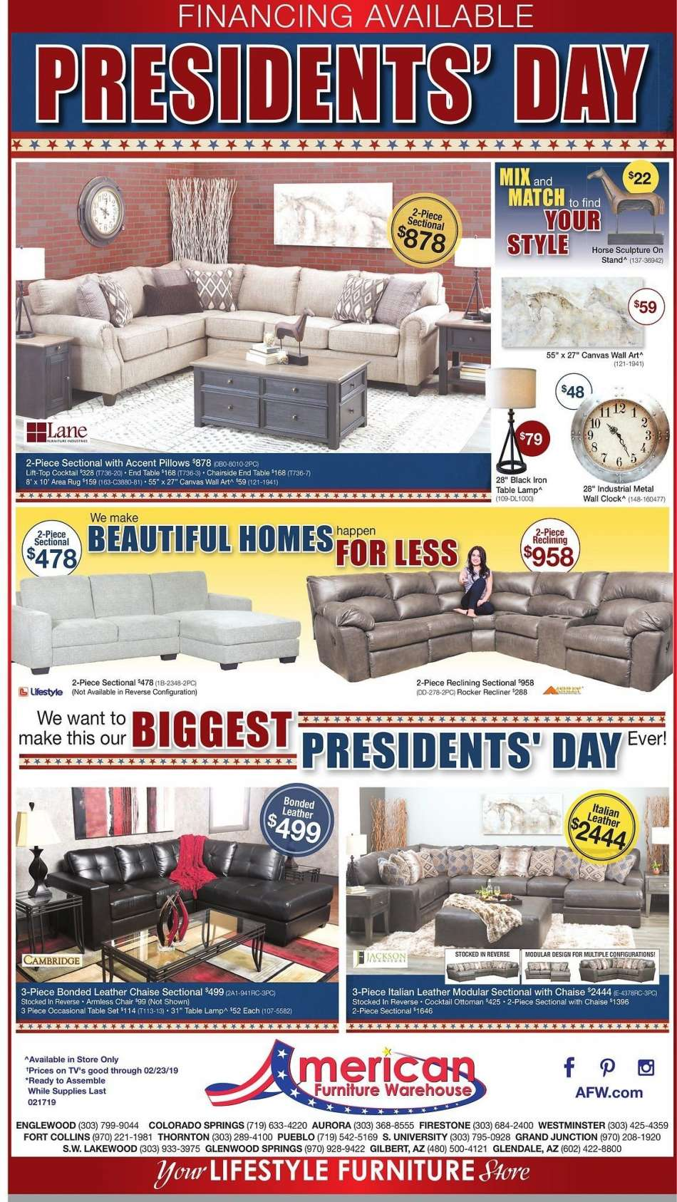 American Furniture Warehouse Flyer 02 17 2019 23 S Products