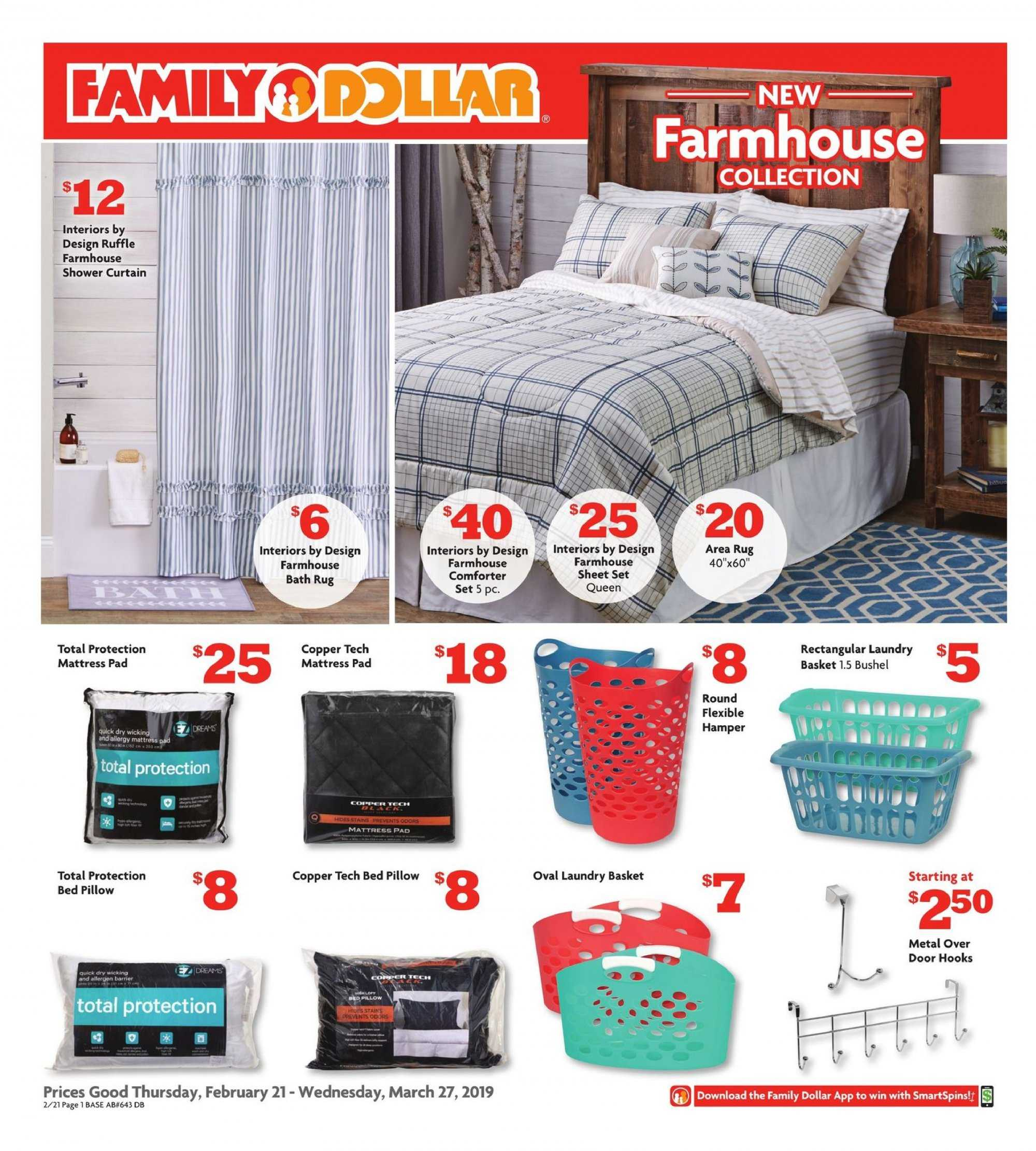 Family Dollar Flyer  - 02.21.2019 - 03.27.2019. Page 1.