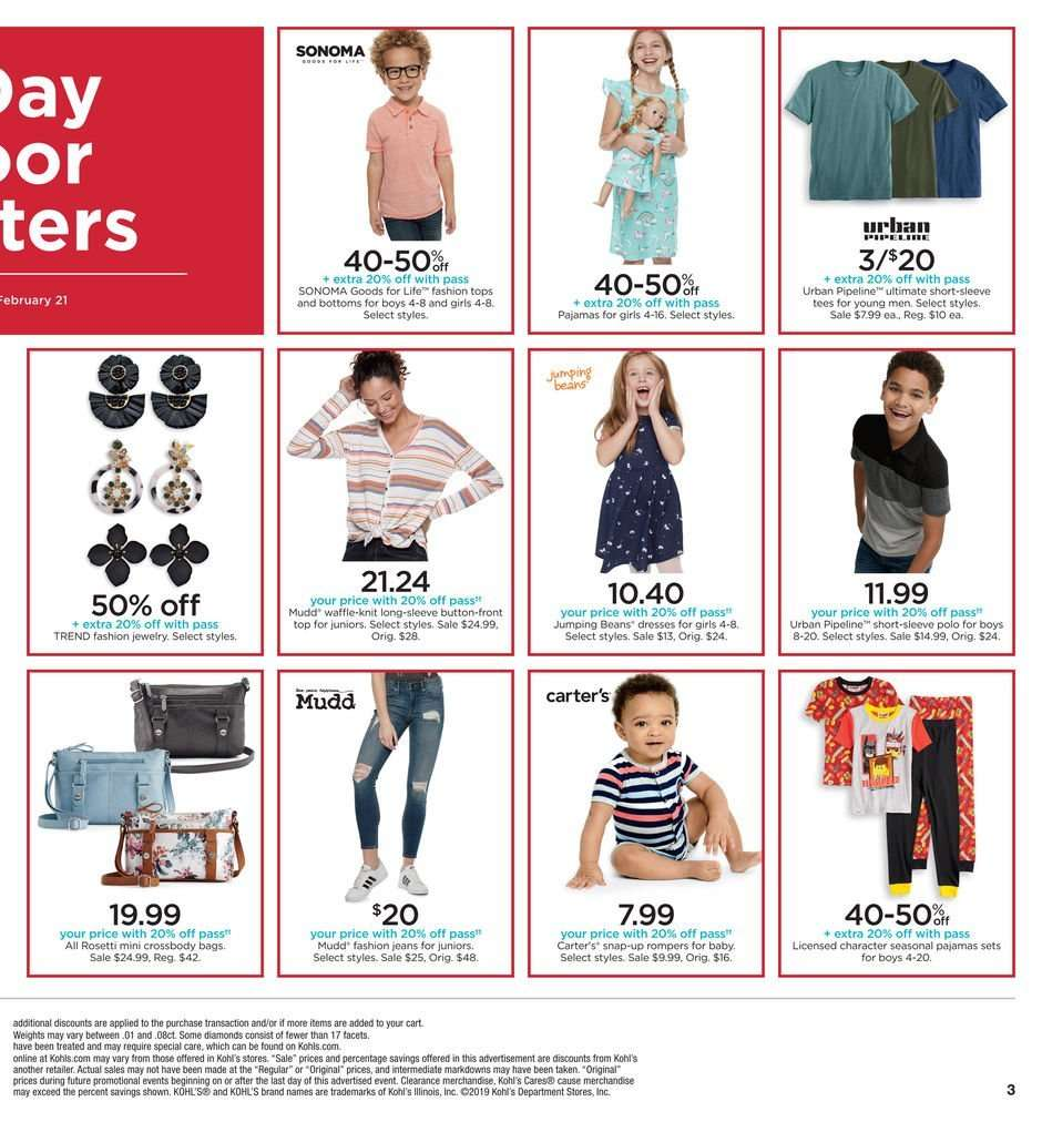 aed826601 Kohl's Flyer - 02.21.2019 - 02.24.2019 - Sales products - bag,
