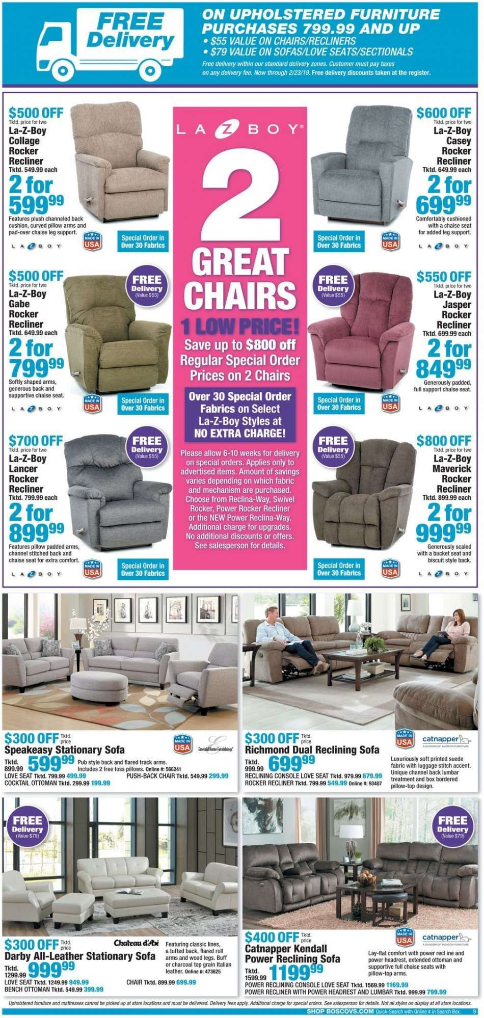 Terrific Boscovs Flyer 02 21 2019 02 24 2019 Weekly Ads Us Gmtry Best Dining Table And Chair Ideas Images Gmtryco