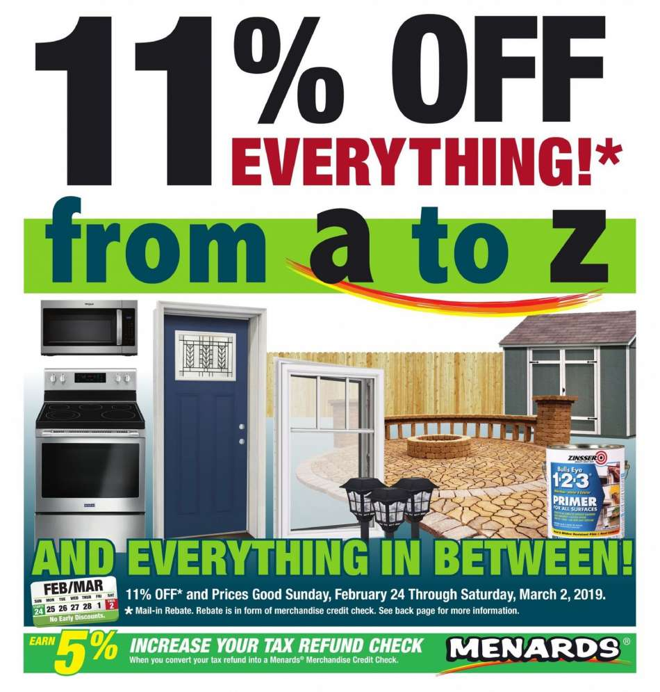 Menards Flyer 02 24 2019 03 02 2019 Weekly Ads Us