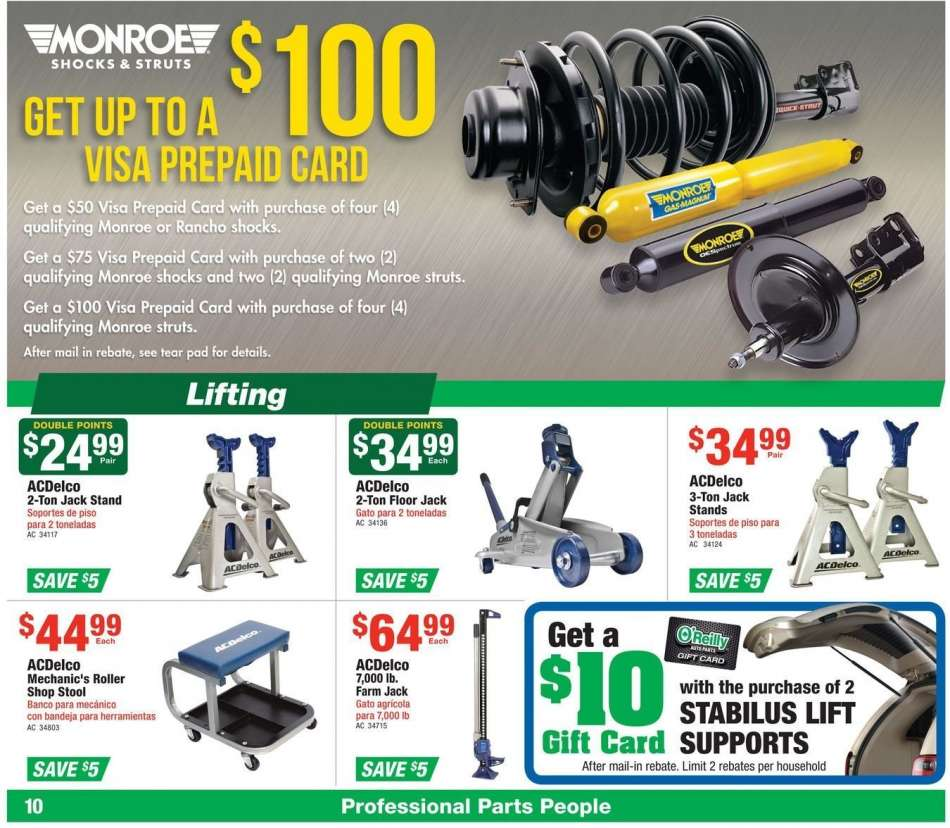 O Reilly Auto Parts Flyer 02 27 2019 03 26 2019 Weekly Ads