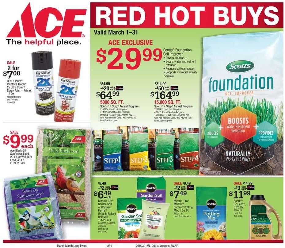 Ace Hardware Flyer 03 01 2019 03 31 2019 Weekly Ads Us
