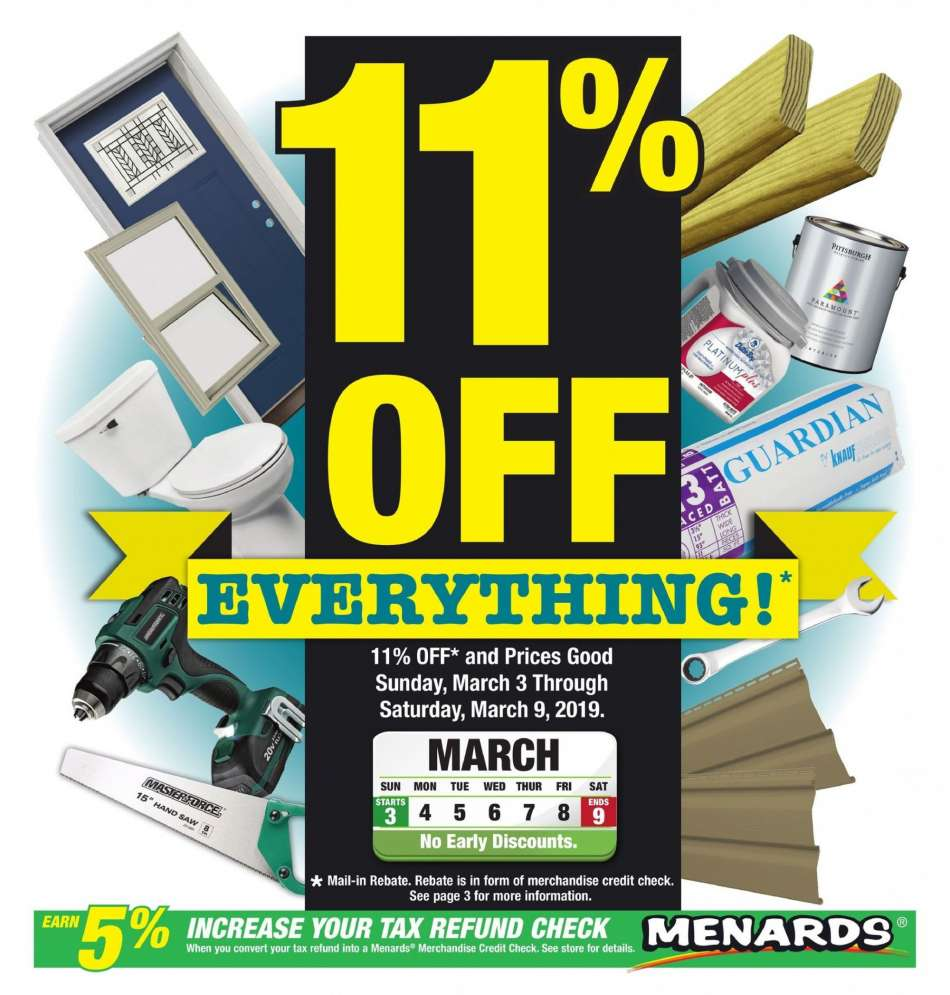 Menards Flyer 03 03 2019 03 09 2019 Weekly Ads Us