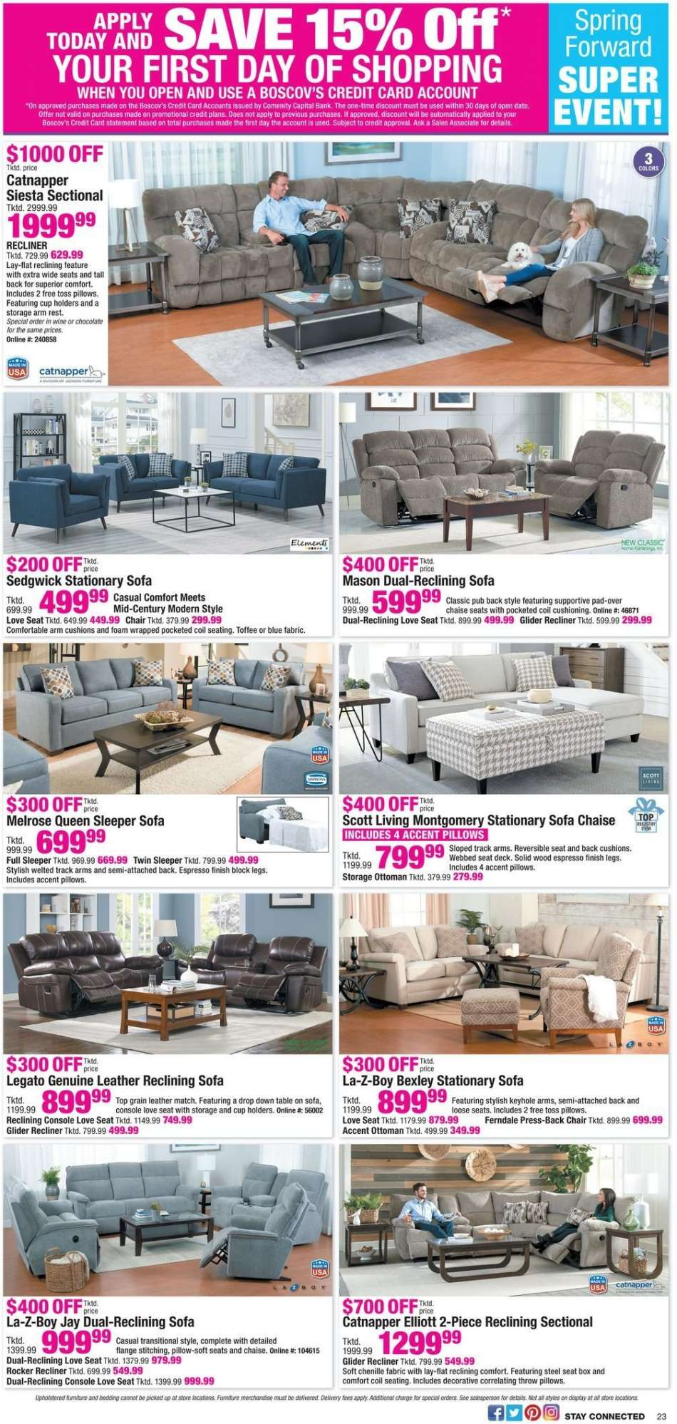 Tremendous Boscovs Flyer 03 03 2019 03 10 2019 Weekly Ads Us Gmtry Best Dining Table And Chair Ideas Images Gmtryco