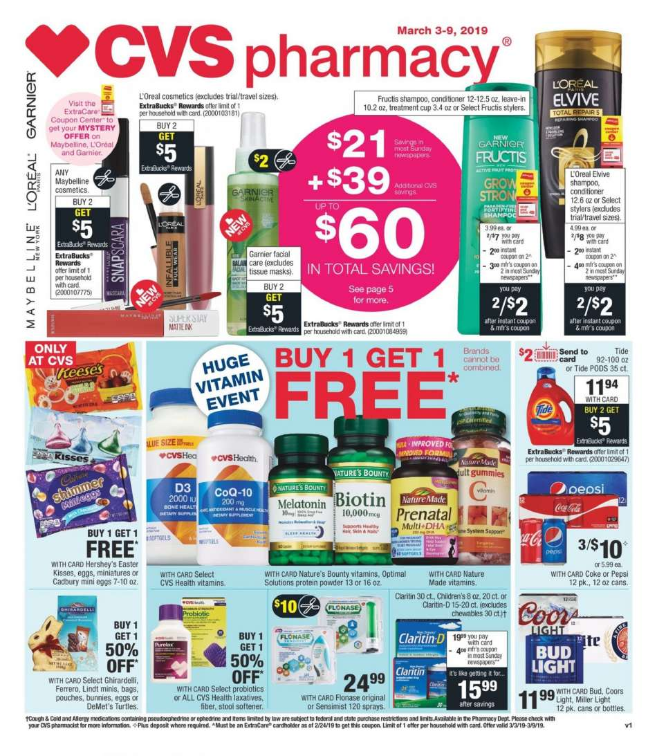 CVS Pharmacy flyer 03 03 2019 - 03 09 2019 | Weekly-ads us
