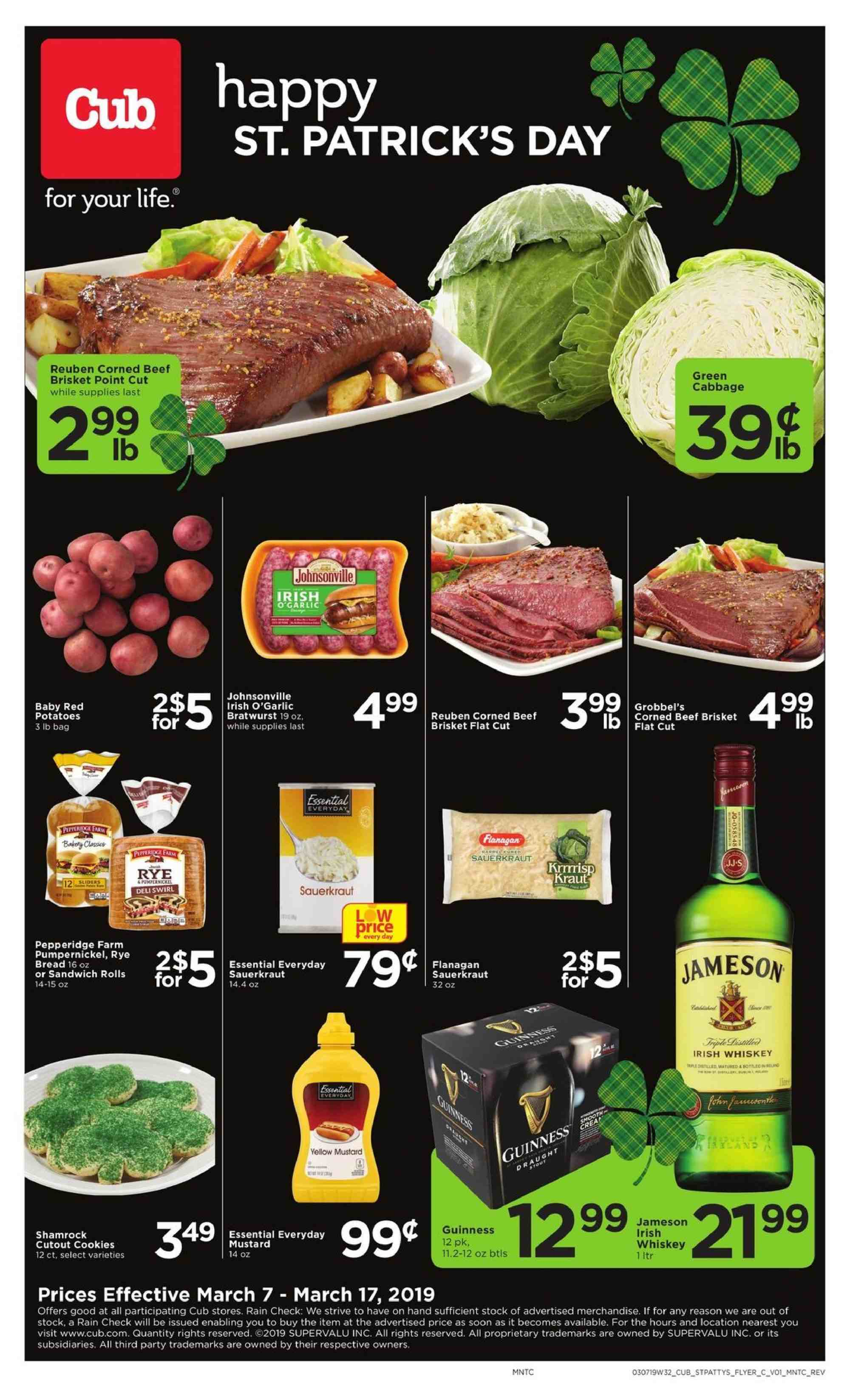 Cub Foods Flyer  - 03.07.2019 - 03.17.2019. Page 1.