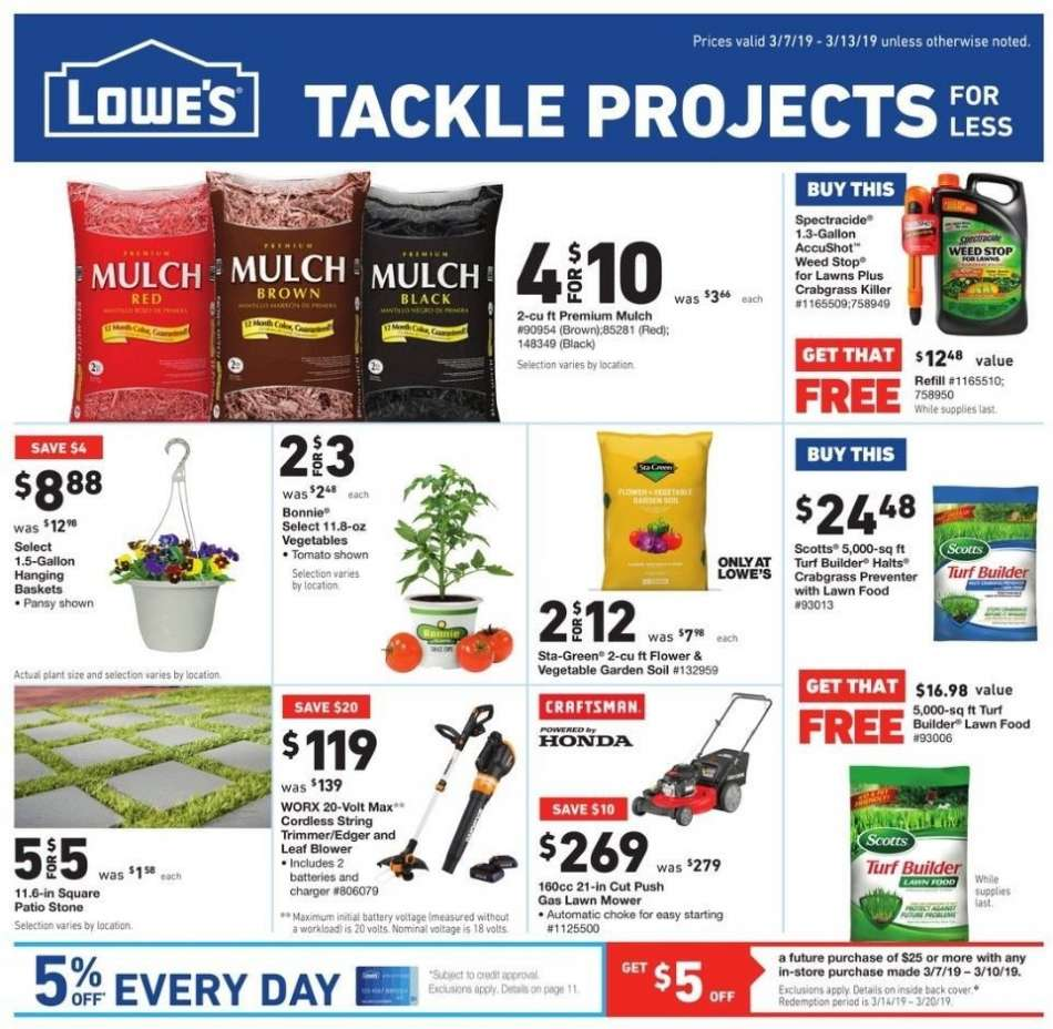 Lowe's flyer 03 07 2019 - 03 13 2019 | Weekly-ads us