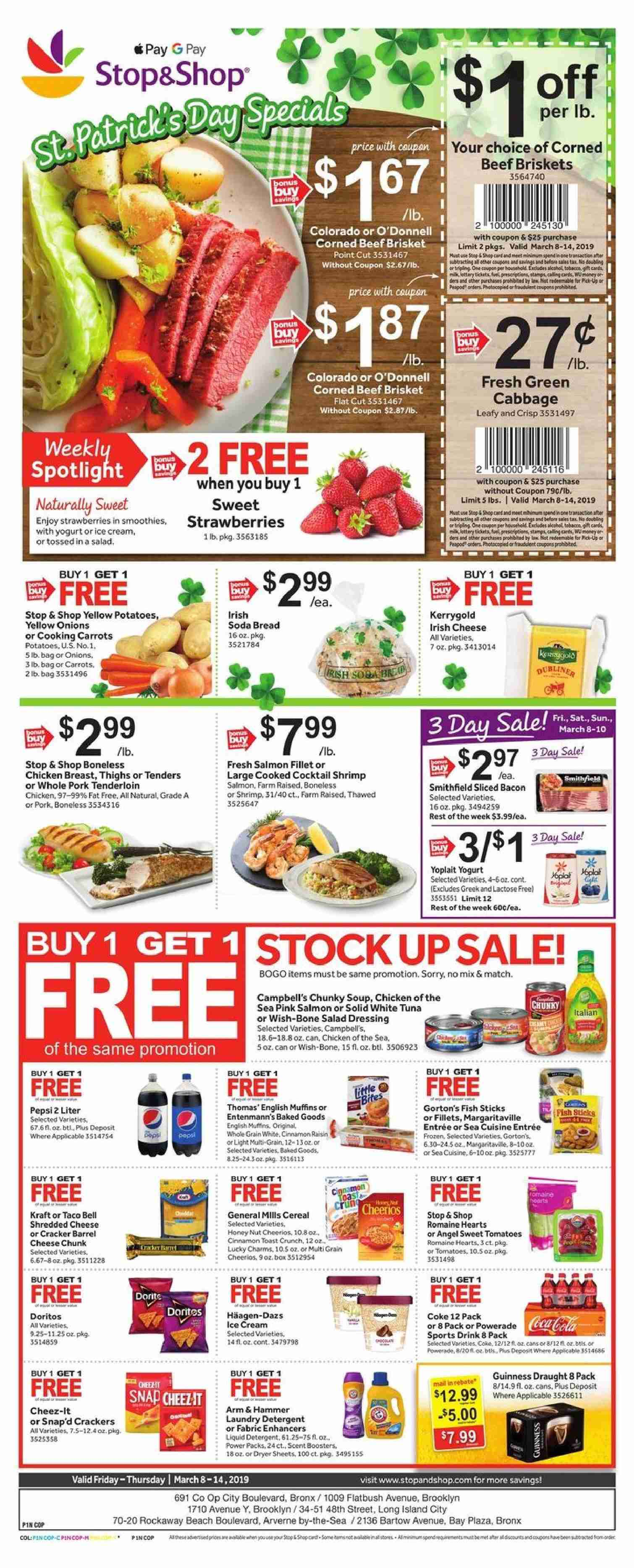 Stop & Shop Flyer  - 03.08.2019 - 03.14.2019. Page 1.