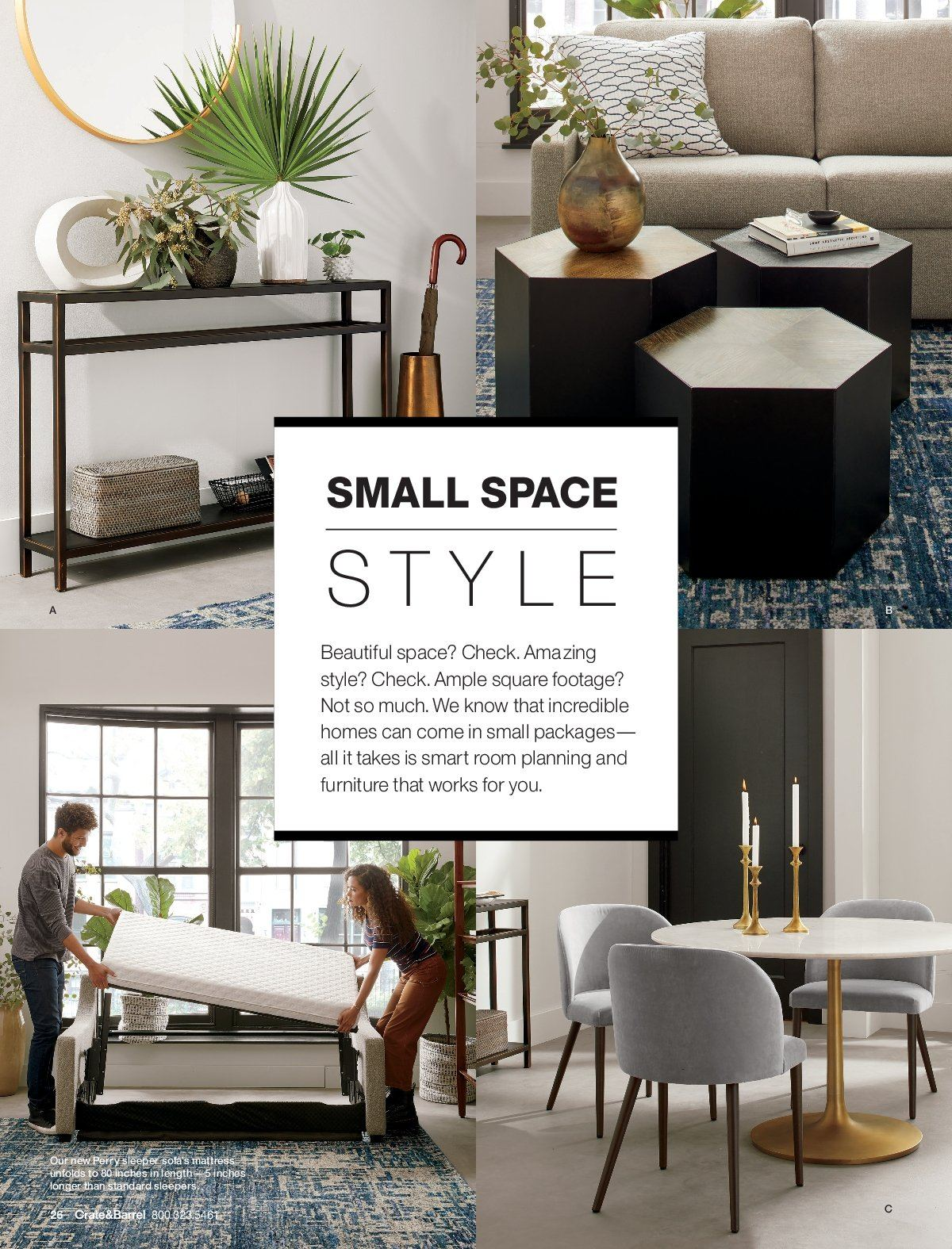 Crate & Barrel Flyer - 03.01.2019 - 03.31.2019 - Sales products - furniture. Page 26.