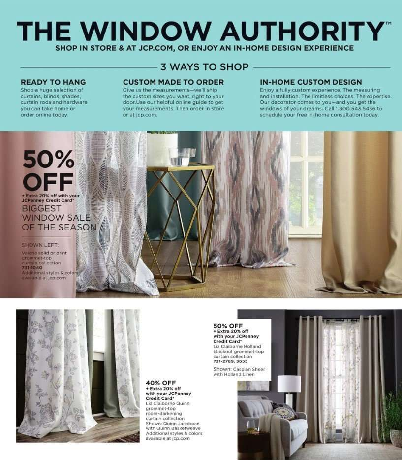 abd505ebf41 JCPenney Flyer - 03.11.2019 - 03.24.2019 - Sales products - curtains