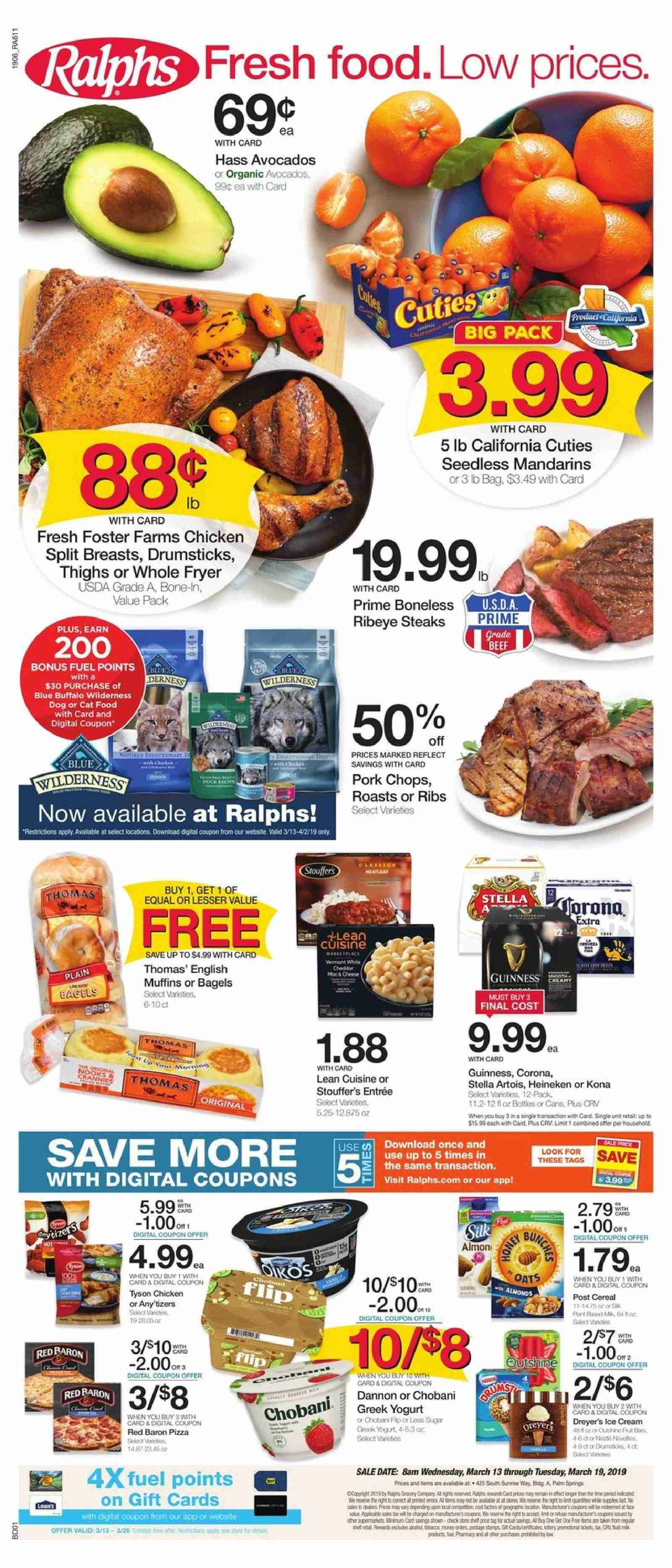 Ralphs Flyer  - 03.13.2019 - 03.19.2019. Page 1.
