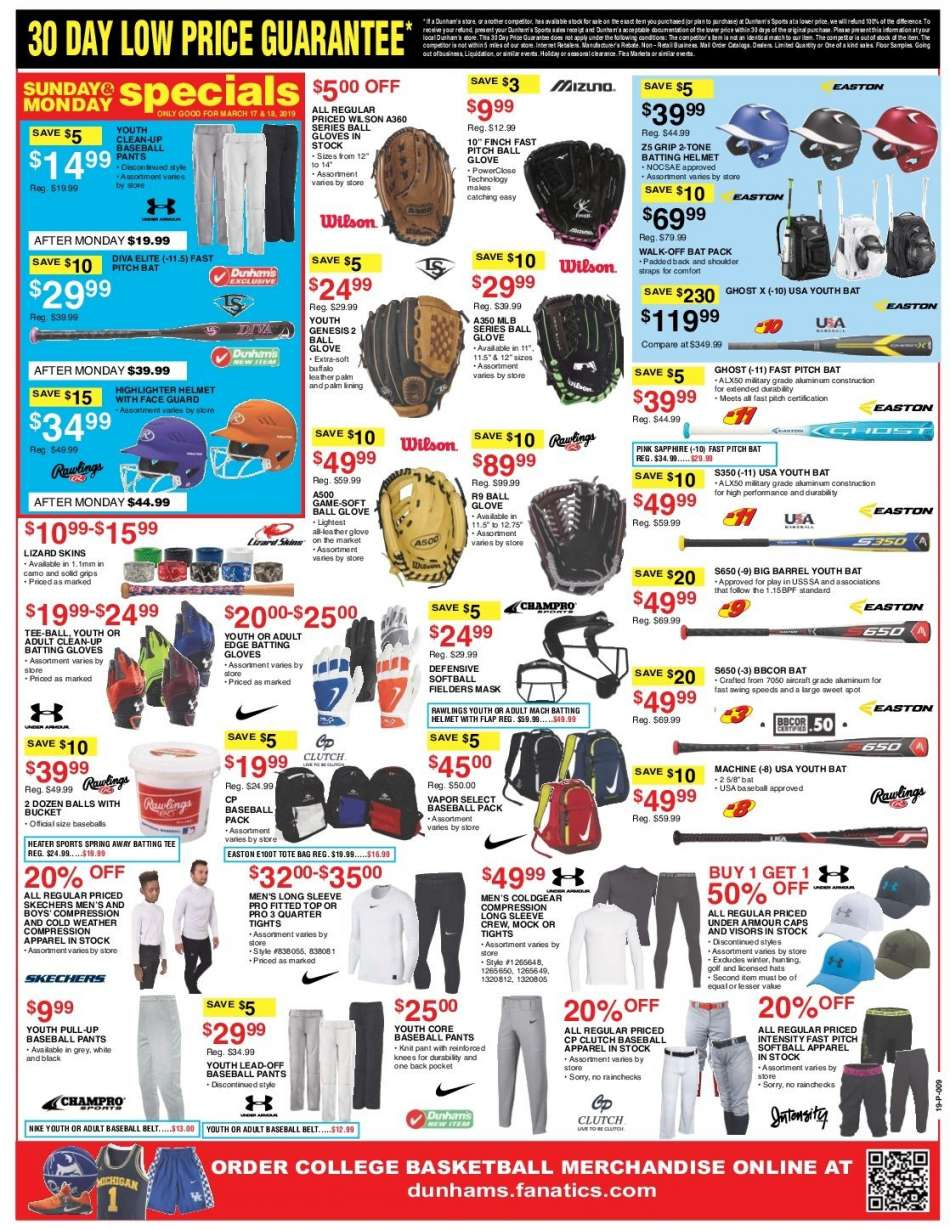 4f82335c94 Dunham's Sports Flyer - 03.16.2019 - 03.21.2019 - Sales products - apparel