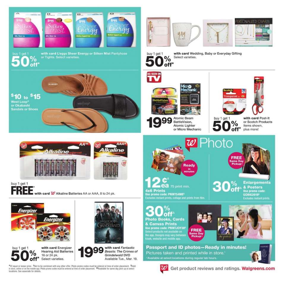 032fc7c35a2 Walgreens Flyer - 03.17.2019 - 03.23.2019 - Sales products - battery