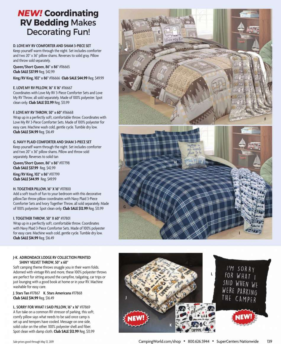 Camping World Flyer 03 18 2019 05 12 S Products Bedding
