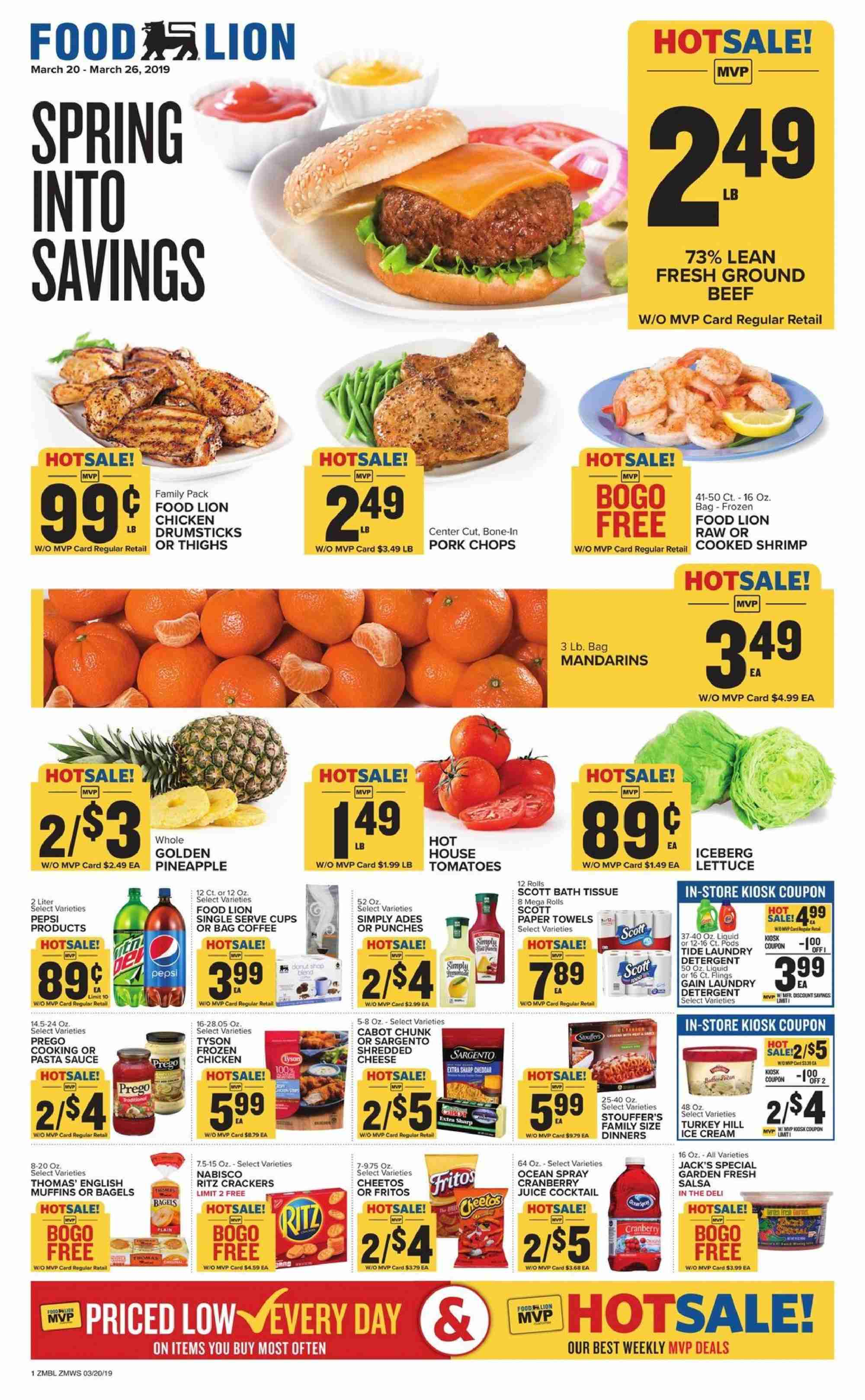 Food Lion Flyer  - 03.20.2019 - 03.26.2019. Page 1.