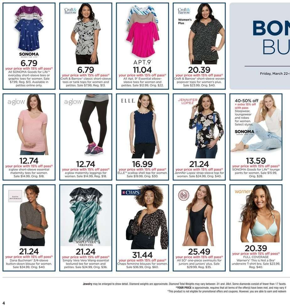 5d025b8fe Kohl's Flyer - 03.22.2019 - 03.31.2019 - Sales products - blouse,