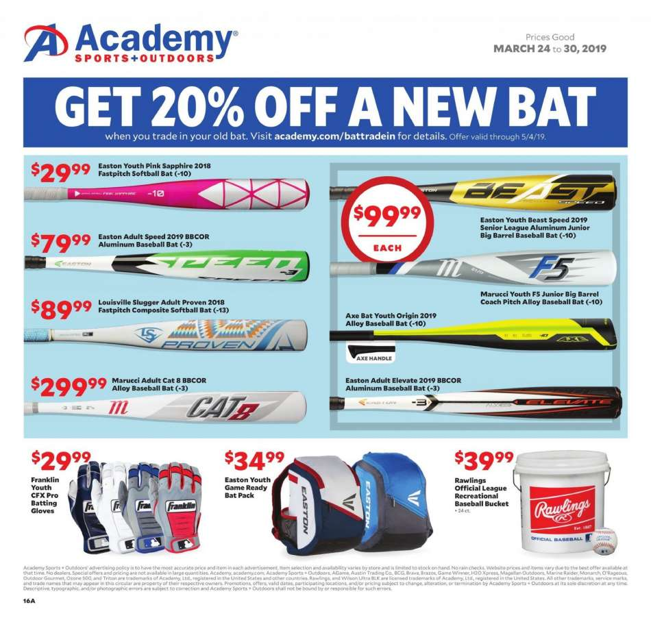 e038fa032f17 Academy Sports Flyer - 03.24.2019 - 03.30.2019 - Sales products - axe