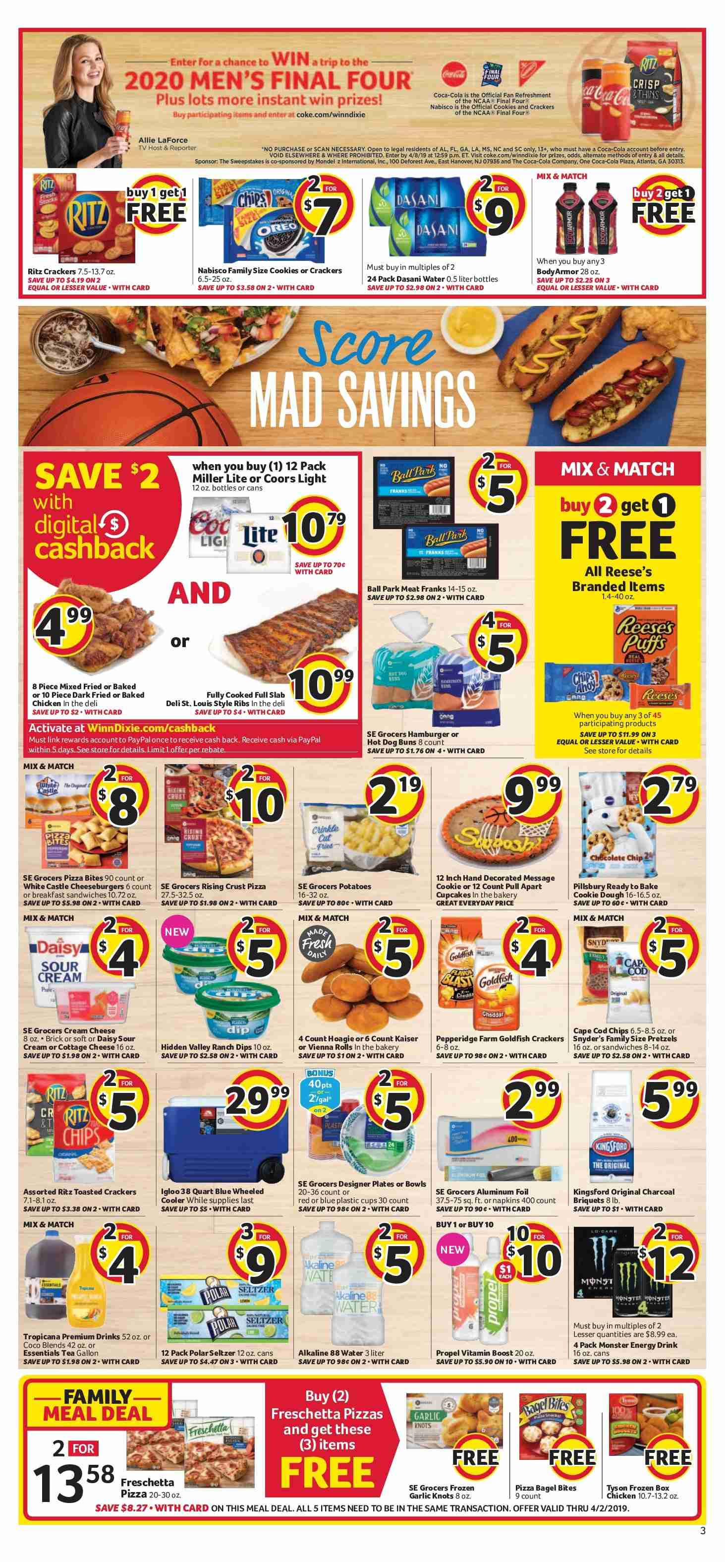 Winn Dixie Flyer  - 03.27.2019 - 04.02.2019. Page 3.