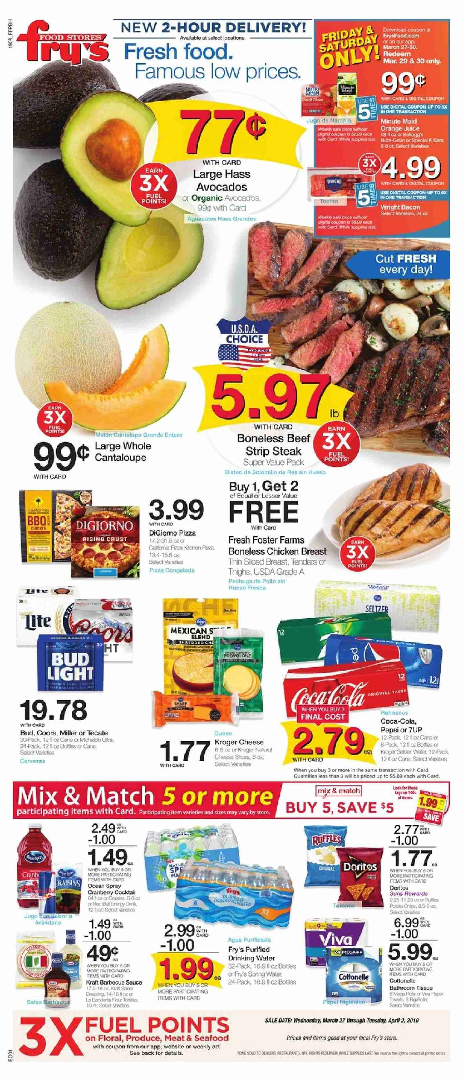 Fry's Flyer  - 03.27.2019 - 04.02.2019. Page 1.