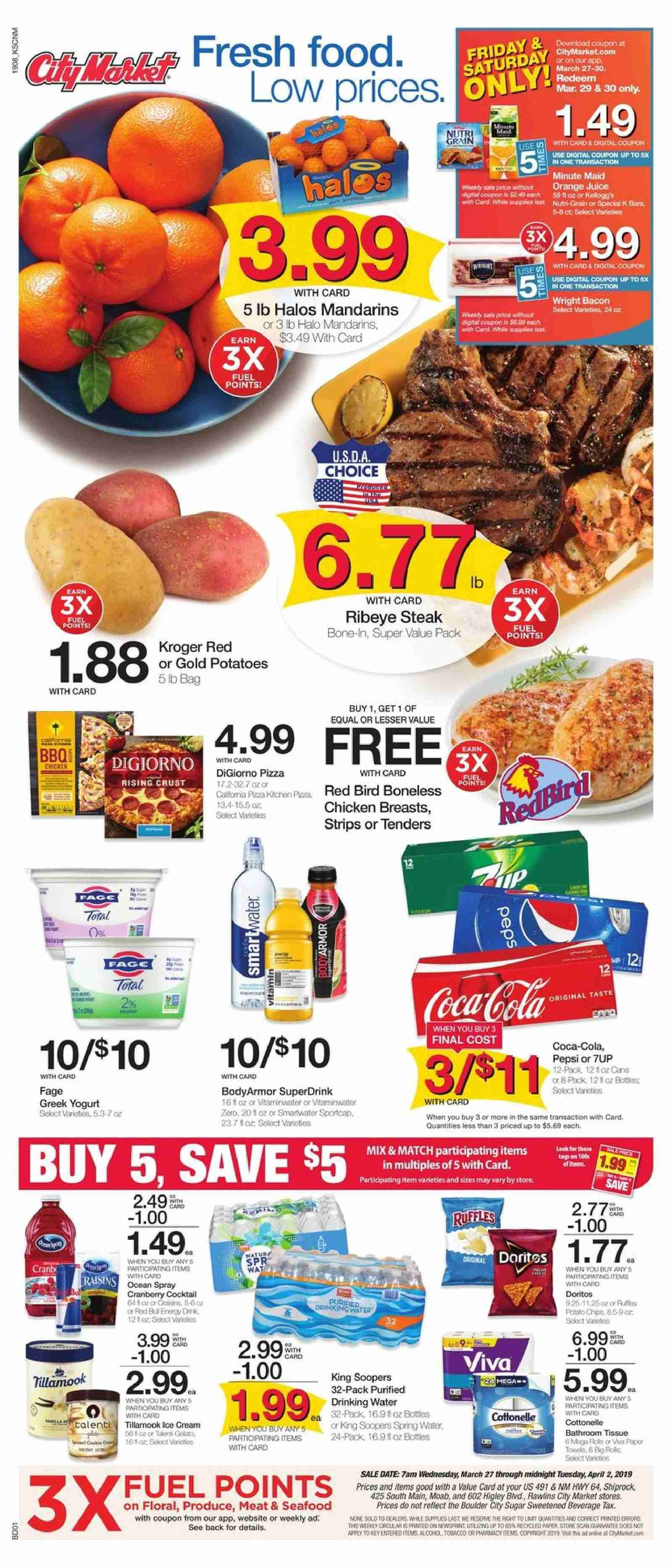City Market Flyer  - 03.27.2019 - 04.02.2019. Page 1.