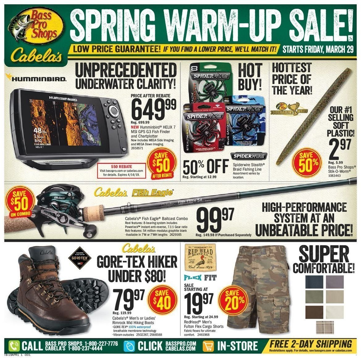 Bass Pro Shops Flyer  - 03.29.2019 - 04.14.2019. Page 1.
