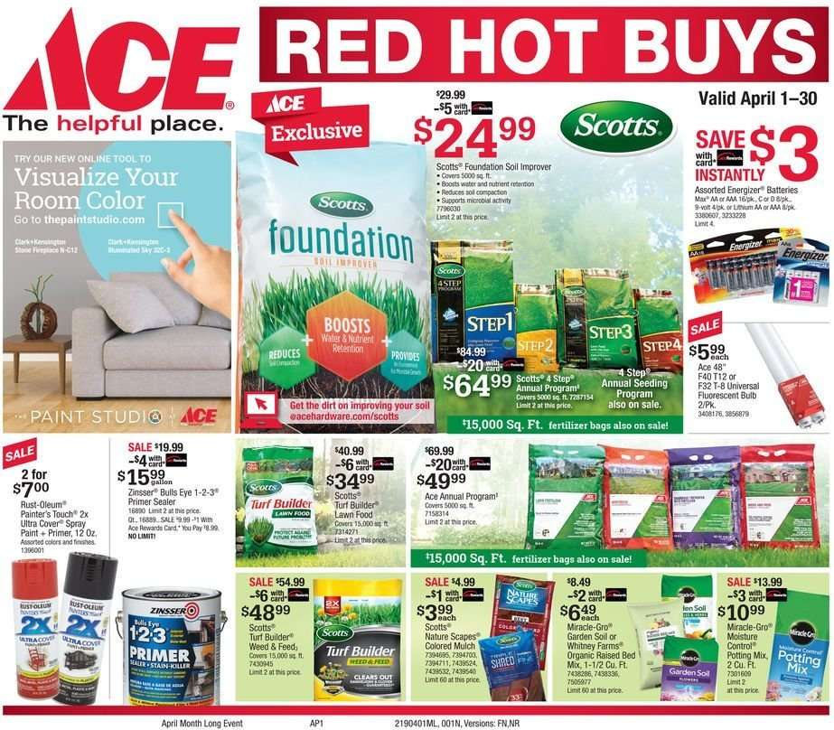 Ace Hardware Flyer 04 01 2019 04 30 2019 Weekly Ads Us