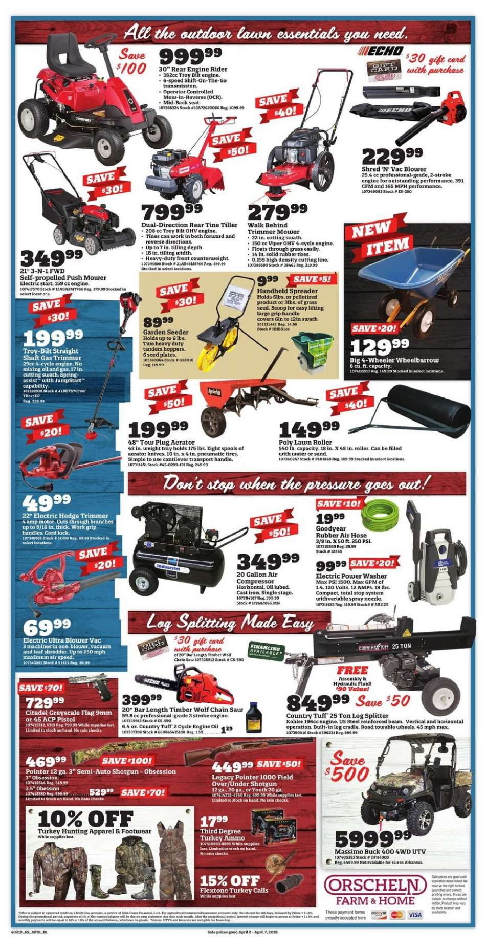 Orscheln Farm and Home flyer 04 02 2019 - 04 07 2019