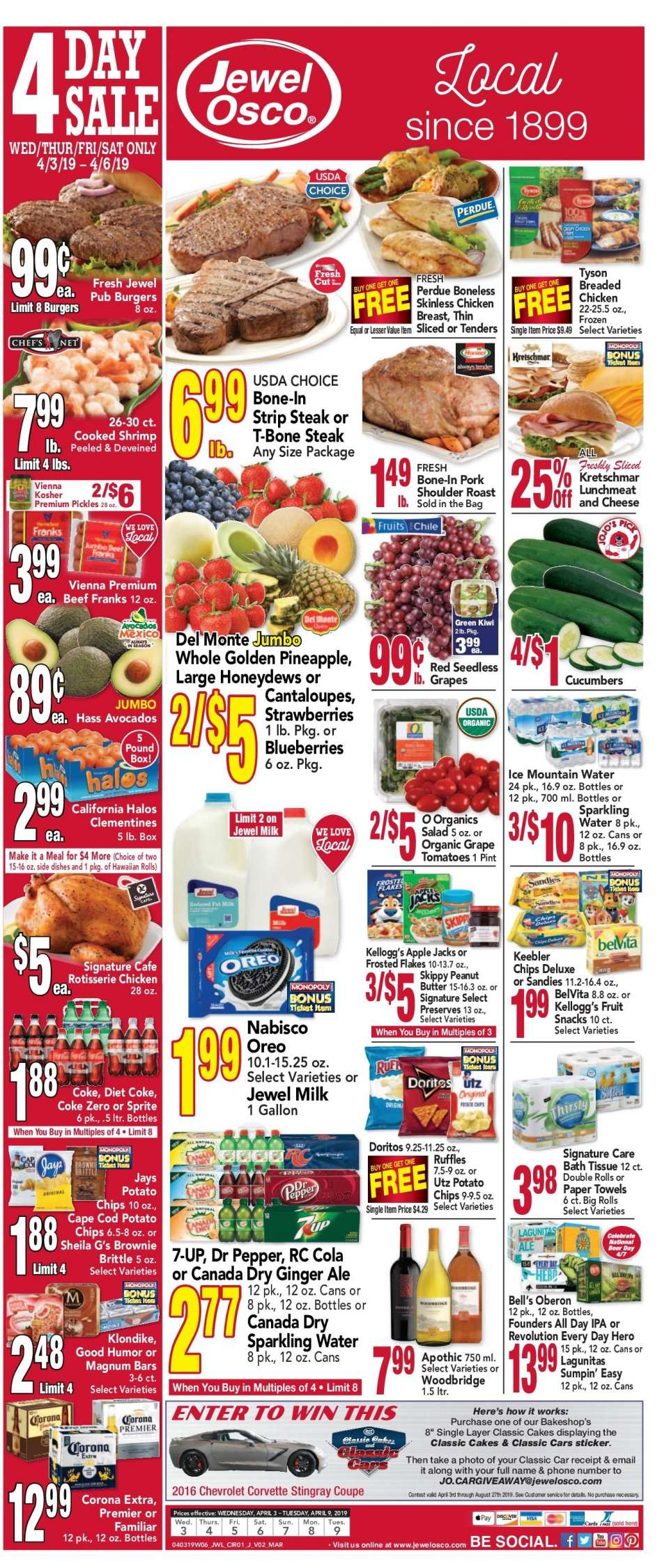 Weekly Sales Circular >> Jewel Osco Flyer 04 03 2019 04 09 2019 Weekly Ads Us