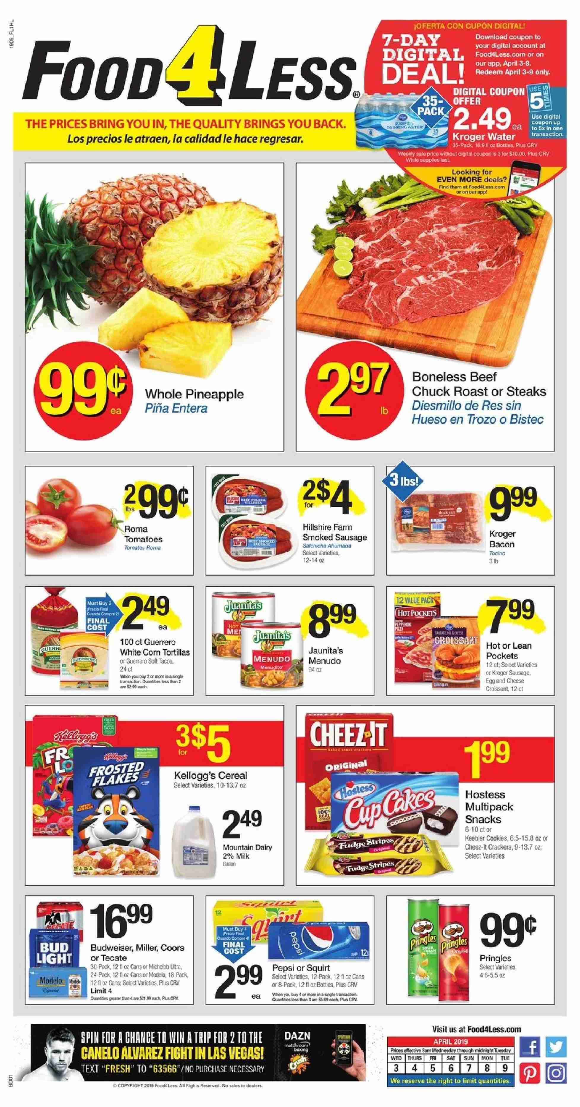 Food 4 Less Flyer  - 04.03.2019 - 04.09.2019. Page 1.