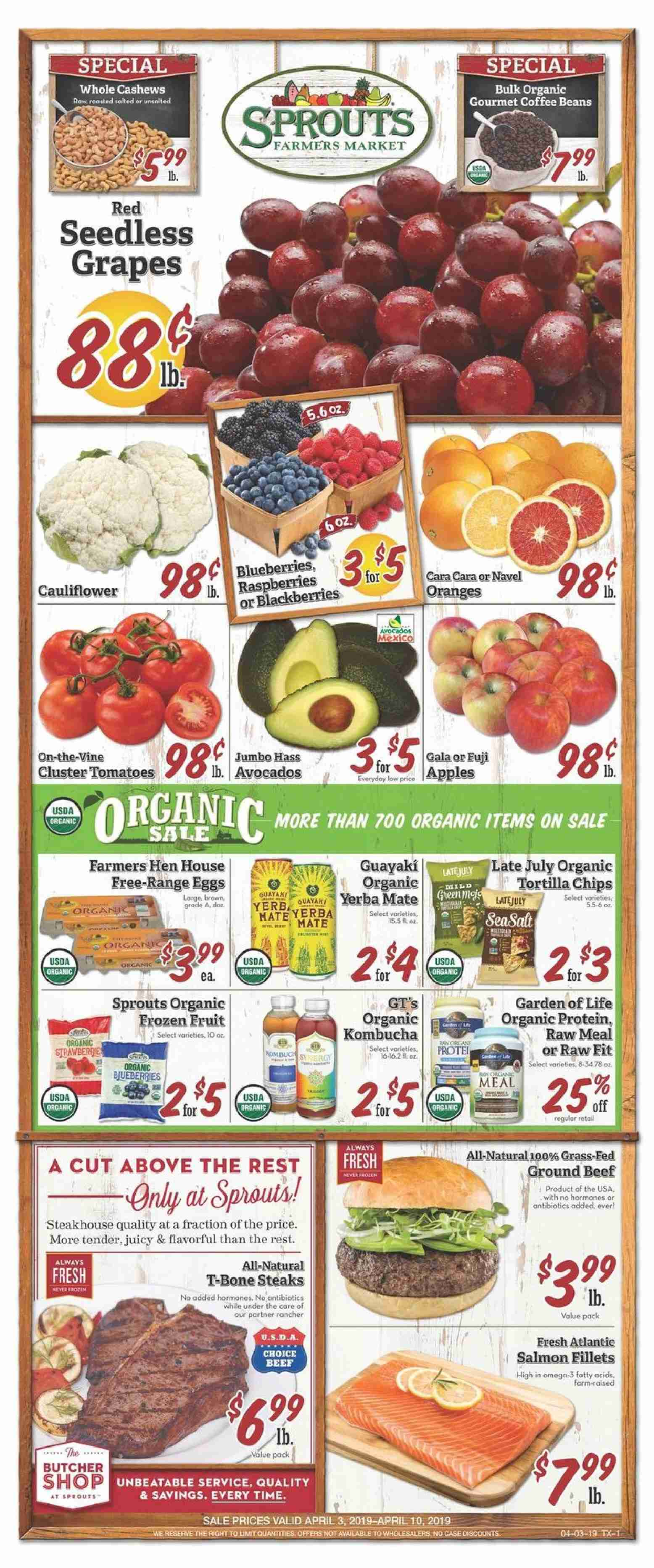 Sprouts Flyer  - 04.03.2019 - 04.10.2019. Page 1.