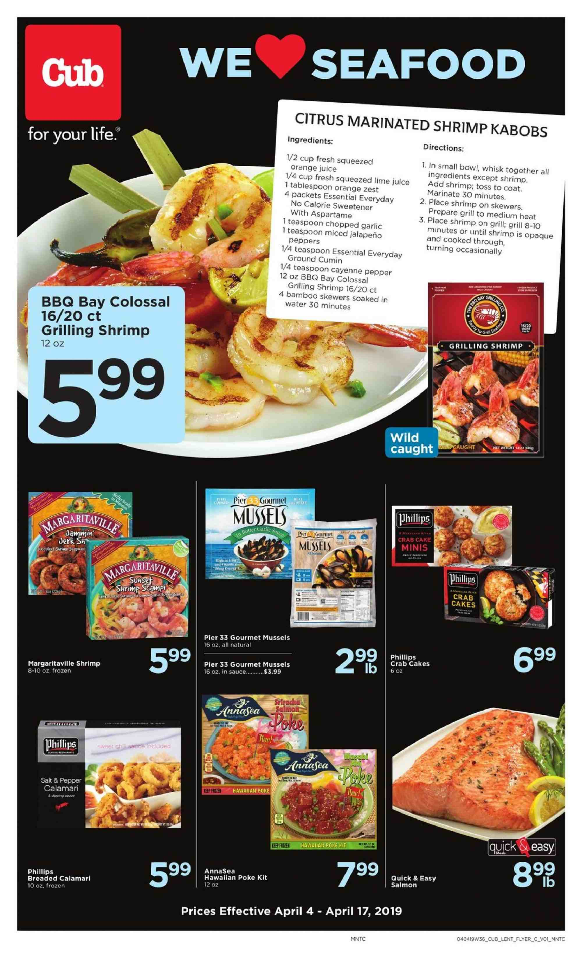 Cub Foods Flyer  - 04.04.2019 - 04.17.2019. Page 1.