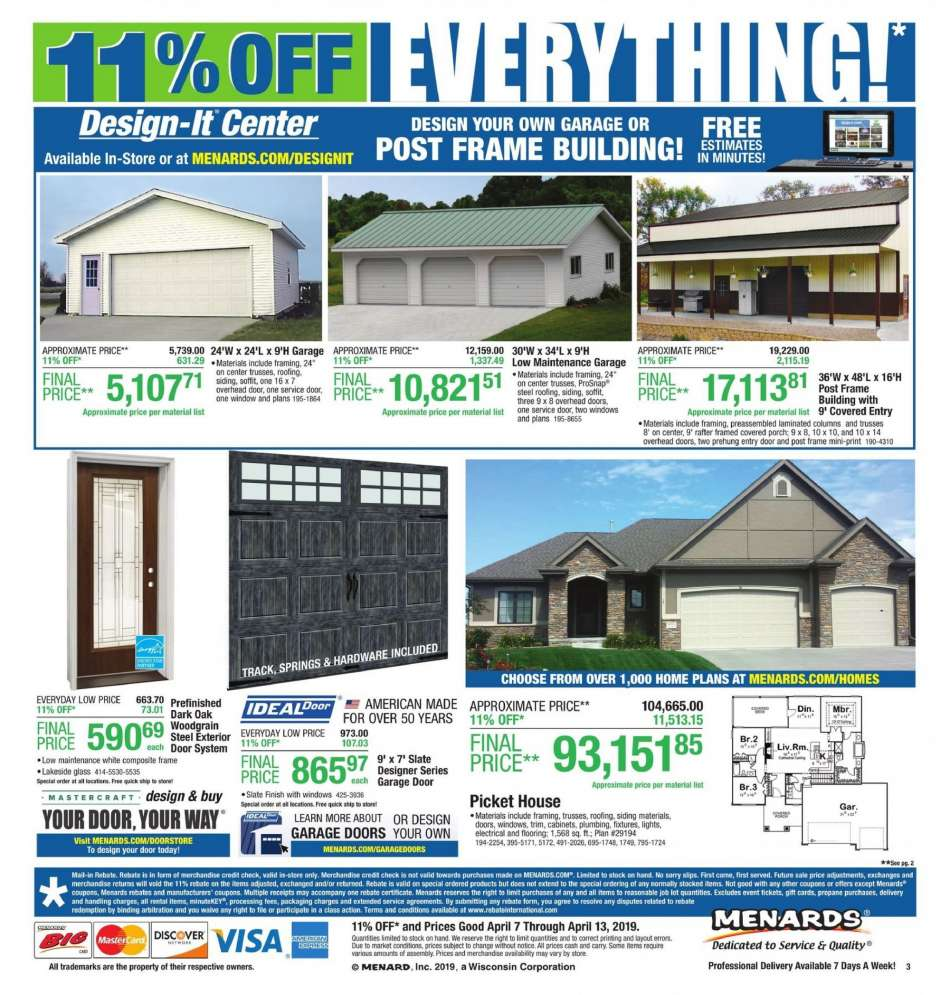 Menards flyer 04.07.2019 - 04.13.2019 | Weekly-ads.us on pottery barn house plans, belk house plans, carter lumber house plans, metal shop house plans, do it best house plans, hallmark house plans, walk out basement house plans, loft house plans, ikea house plans, small 3 bedrooms house plans, simple 4 bedroom house plans, ranch house plans, ebay house plans, secret passage house plans, brady house plans, marriott house plans, house floor plans, amazon house plans, single story house plans, lowe's house plans,