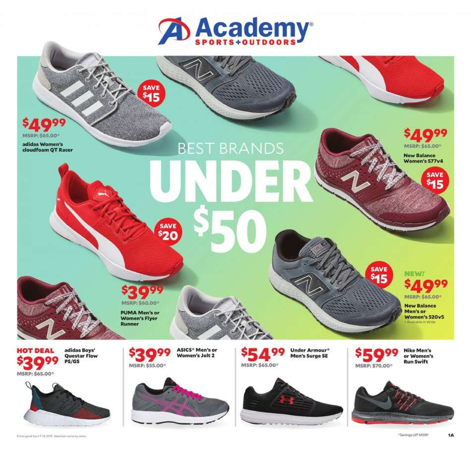 7fbf926e4dcc Academy Sports Flyer - 04.07.2019 - 04.13.2019 - Sales products - adidas