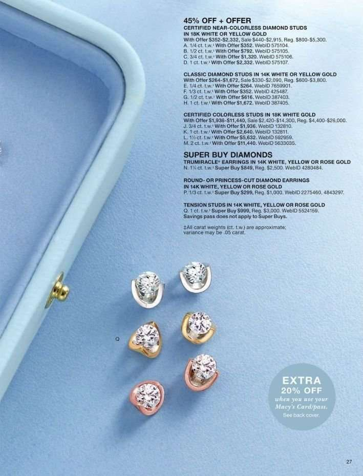 00bf99664 Macy's Flyer - 03.31.2019 - 04.14.2019 - Sales products - earring,