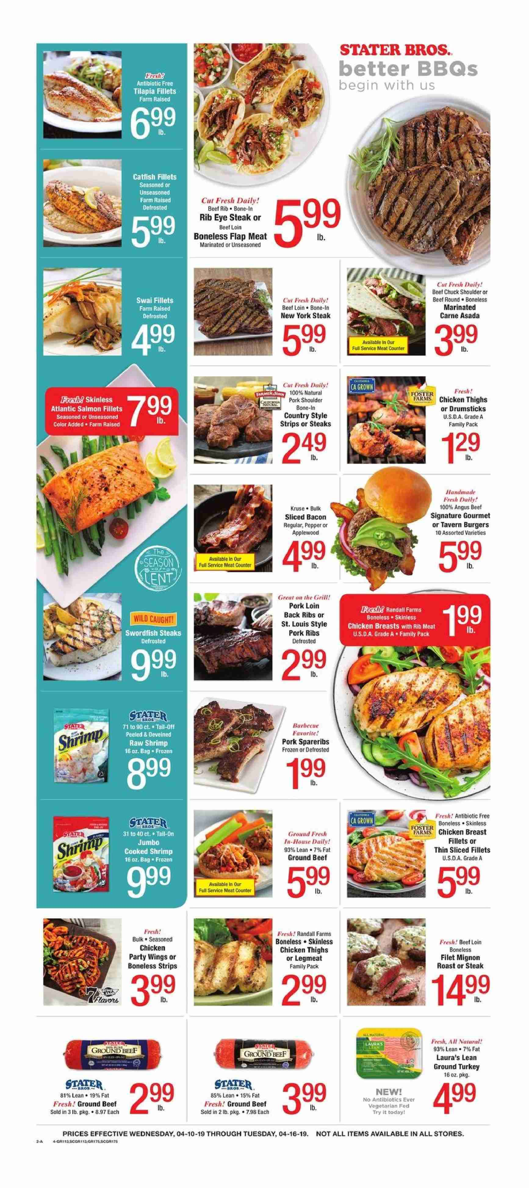 Stater Bros. Flyer  - 04.10.2019 - 04.16.2019. Page 3.