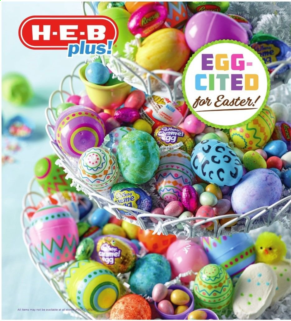H-E-B Flyer  - 04.07.2019 - 04.13.2019. Page 1.