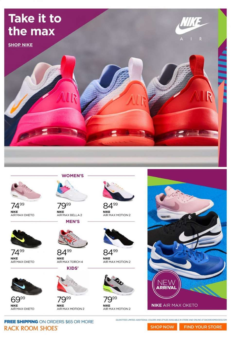 e7d4f77583 Rack Room Shoes Flyer - 04.10.2019 - 04.23.2019 - Sales products -